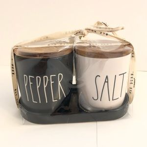 RAE DUNN SALT AND PEPPER CANISTERS